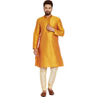 Mens Silk Mustard an ...