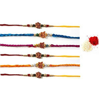 6 Pcs Rakhi with Ro ...