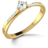 Cz Solitaire Ring In ...