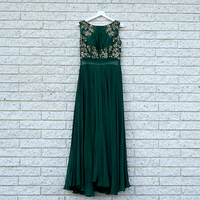 Emerald Green Gown w ...