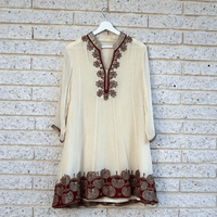 Beige & Red Kurta ...