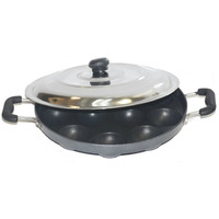 Tabakh Appam Patra Paniyaram Non Stick Pan With Steel Lid