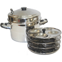 Tabakh 4-Rack Stainless Steel Idli Cooker With Stand