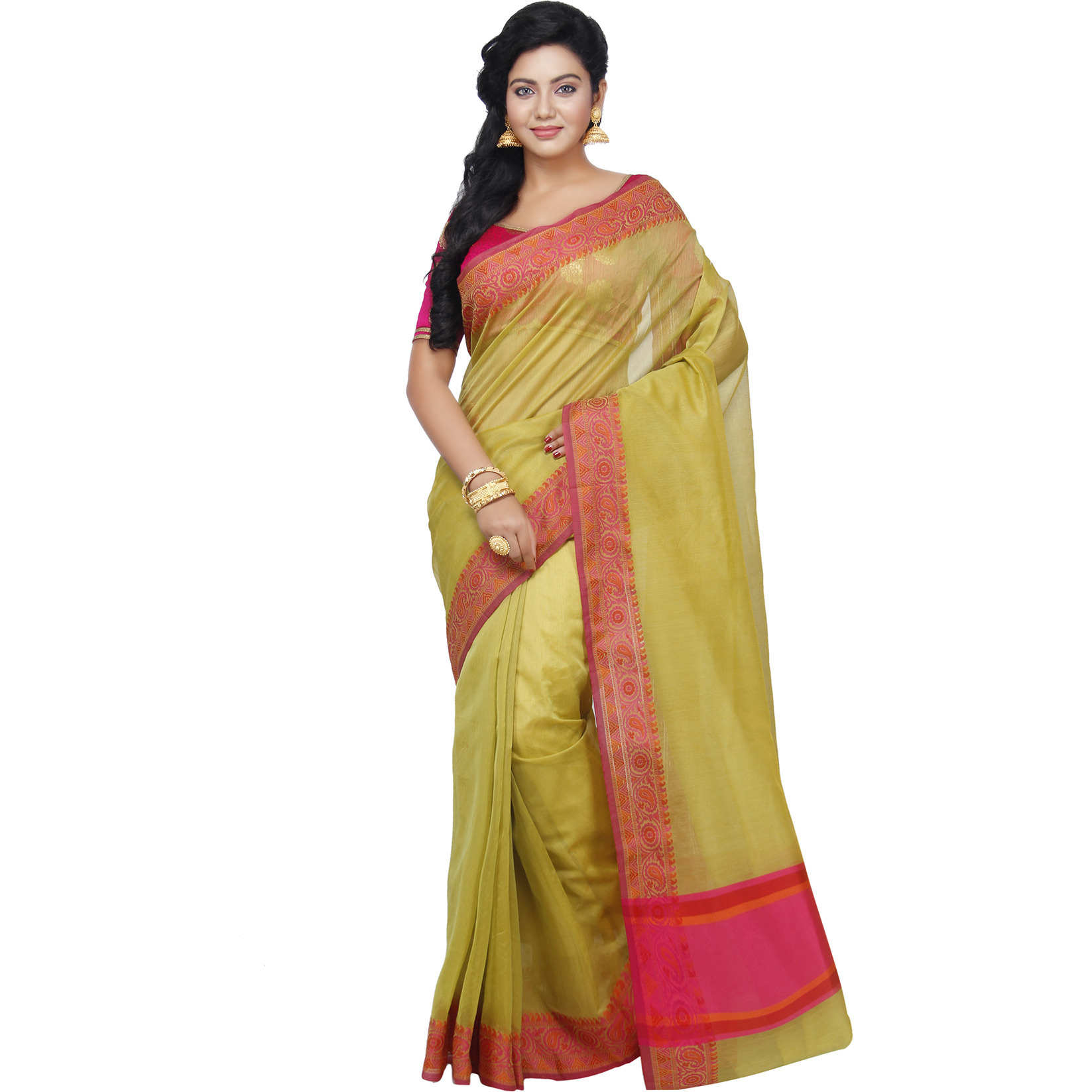 Georgette Fancy Resham Work Banarai Saree