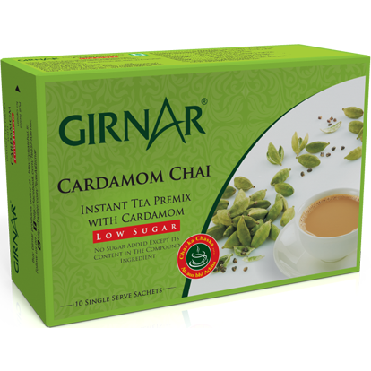 Girnar Instant Tea Premix With Cardamom (Low Sugar) Free Shipping