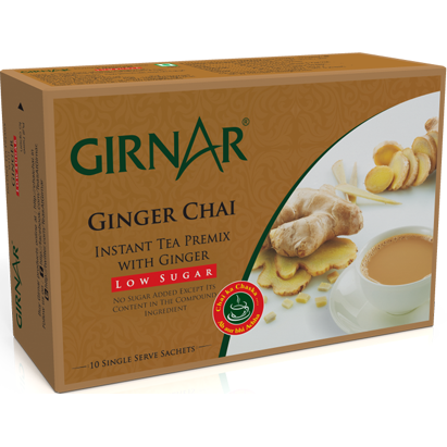 Girnar Instant Tea Premix With Ginger (Low Sugar)