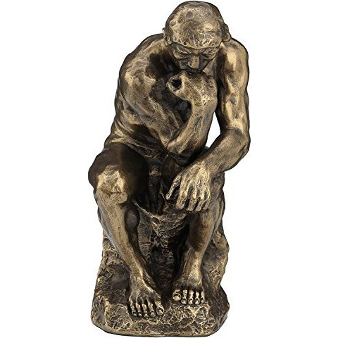 Rodin the Thinker Statue Fine Art Sculpture Male Nude Figure 5 3/4 inches high