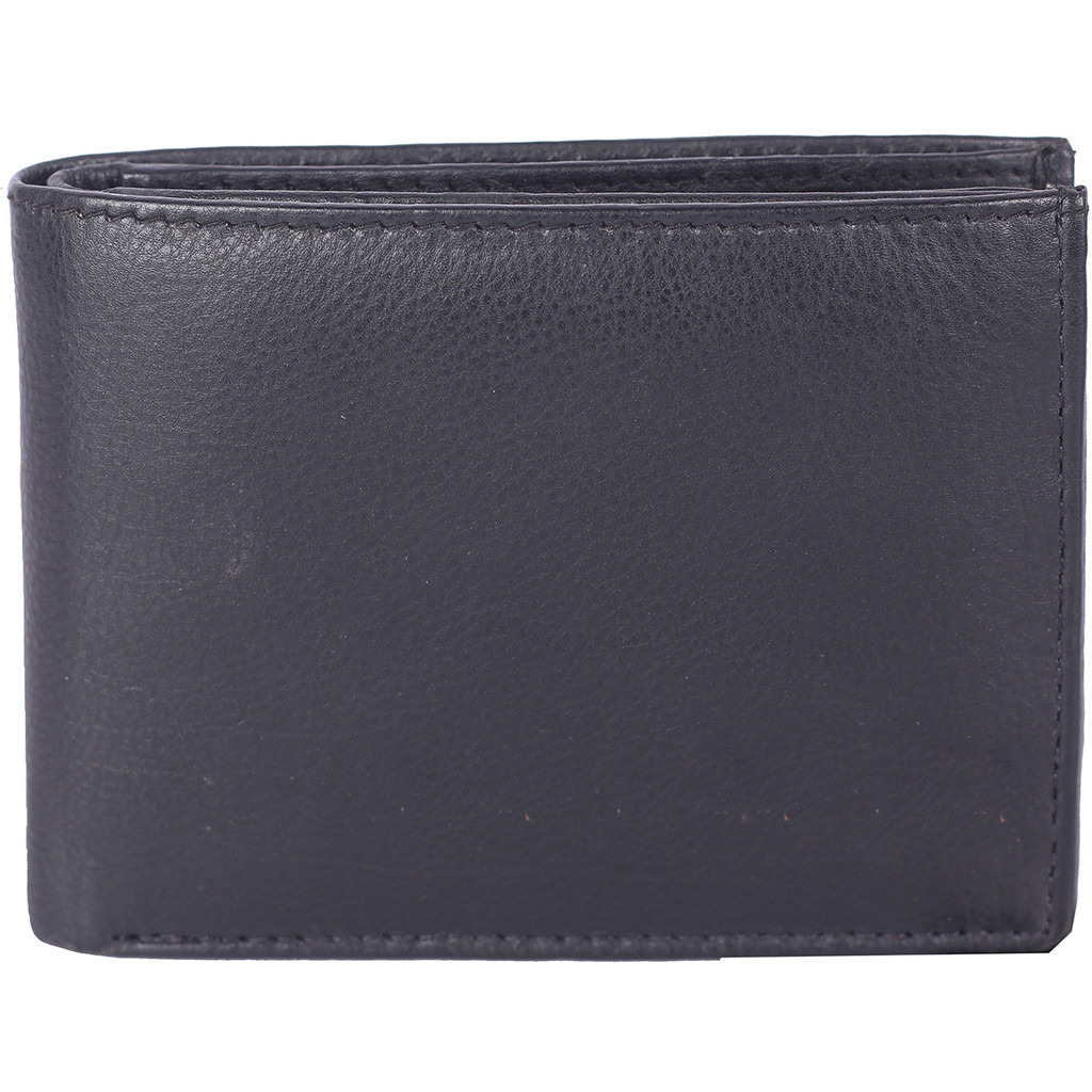 FIONA Mens Leather Bifold Wallet | Wallets For Men RFID Blocking | Genuine Leather | Extra Capacity Mens Black Wallet |