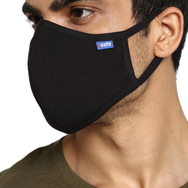 Swiss technology Anti virus kills 99% corona virus. Proven effective against SARS Cov 2 at the prestigious Australian Institute. G99 Reusable mask (size L) fits people (65-89kg) (Size: L, Color: Black)