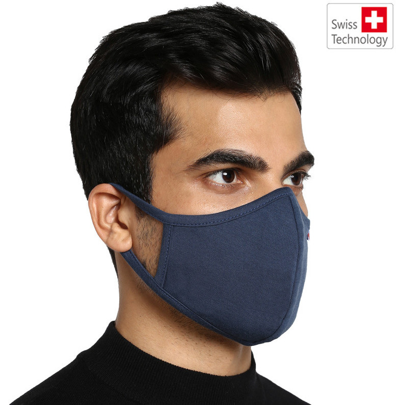 Swiss technology Anti virus kills 99% corona virus. Proven effective against SARS Cov 2 at the prestigious Australian Institute. G99 Reusable mask (size L) fits people (65-89kg) (Size: L, Color: Blue)