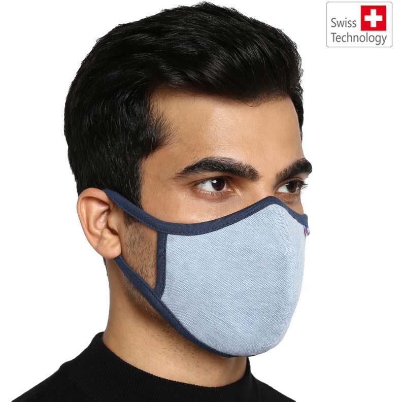 Swiss technology Anti virus kills 99% corona virus. Proven effective against SARS Cov 2 at the prestigious Australian Institute. G99 Reusable mask (size XL) fits people (90kg above) (Size: XL, Color: Multi)