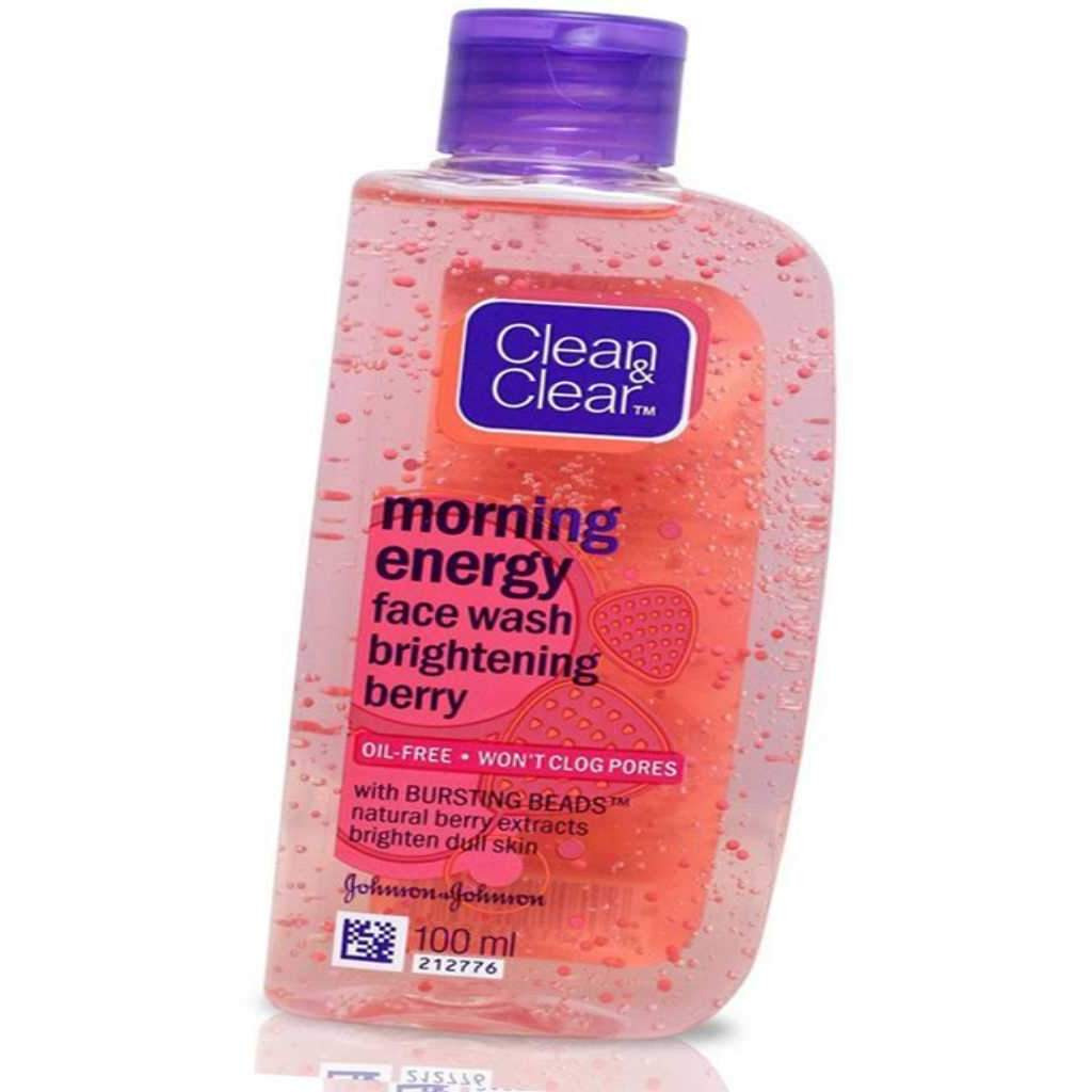 Clean & Clear Morning Energy Berry Face Wash, 100ml (Size:PACK OF 12)