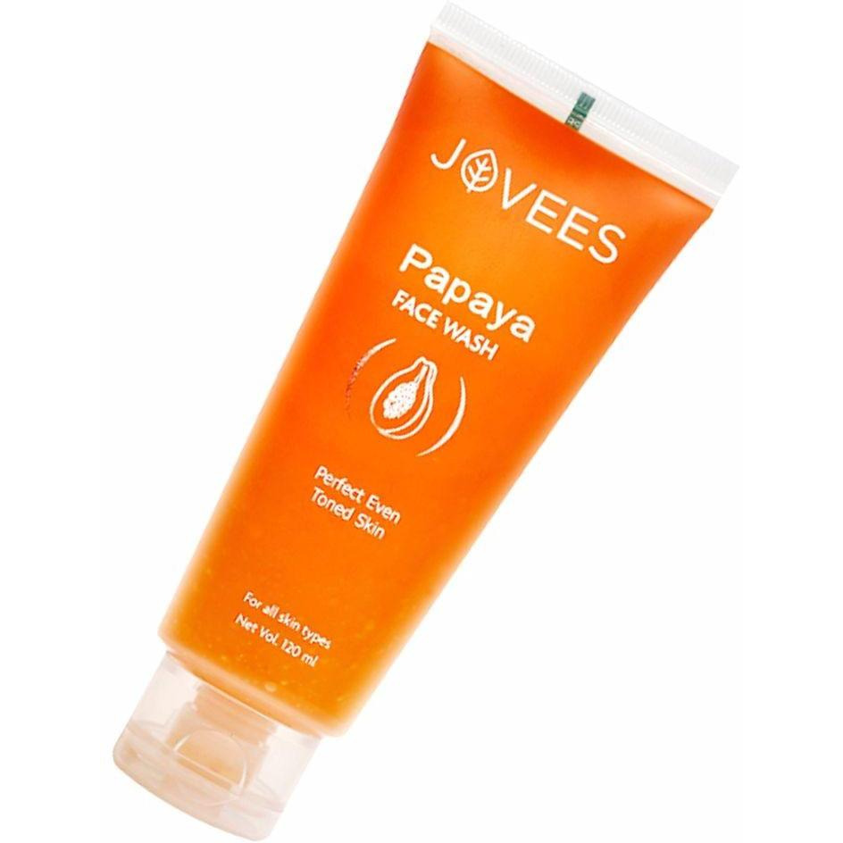 100% Natural Jovees Papaya Face Wash-Perfect Even Toned Skin For Women - 120Ml