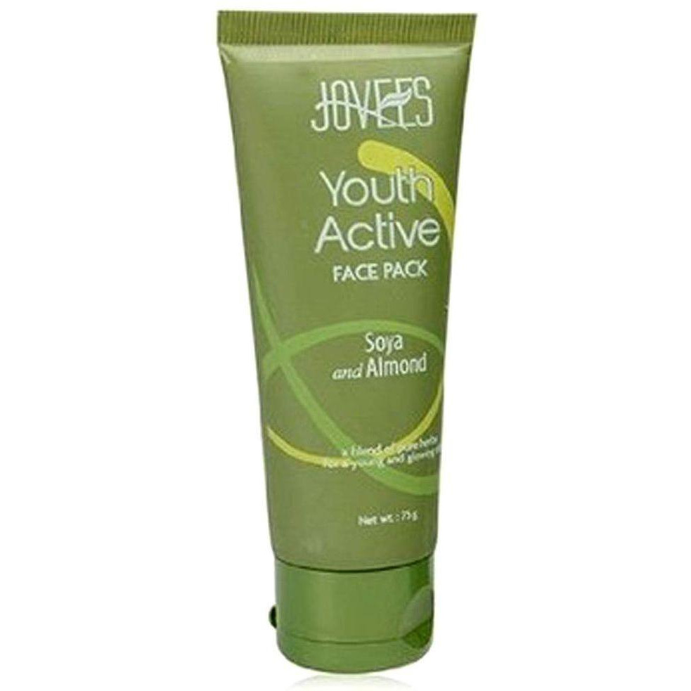 100% Natural Jovees Youth Active Face Pack Soya & Almond For Women - 75 Gms (Size:PACK OF 01)