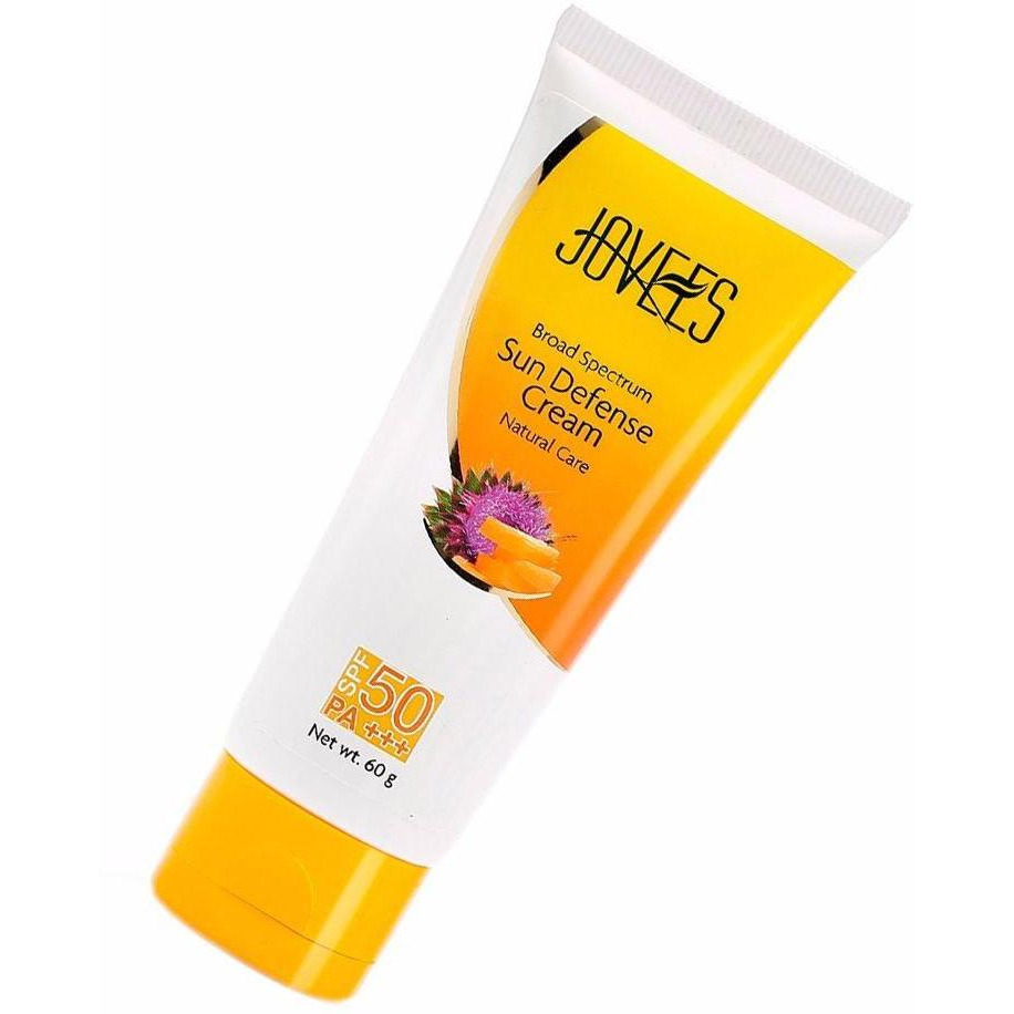 100% Natural Jovees Sun Defence Cream SPF 50 PA +++ For Women ??? 60 Gms (Size:PACK OF 10)