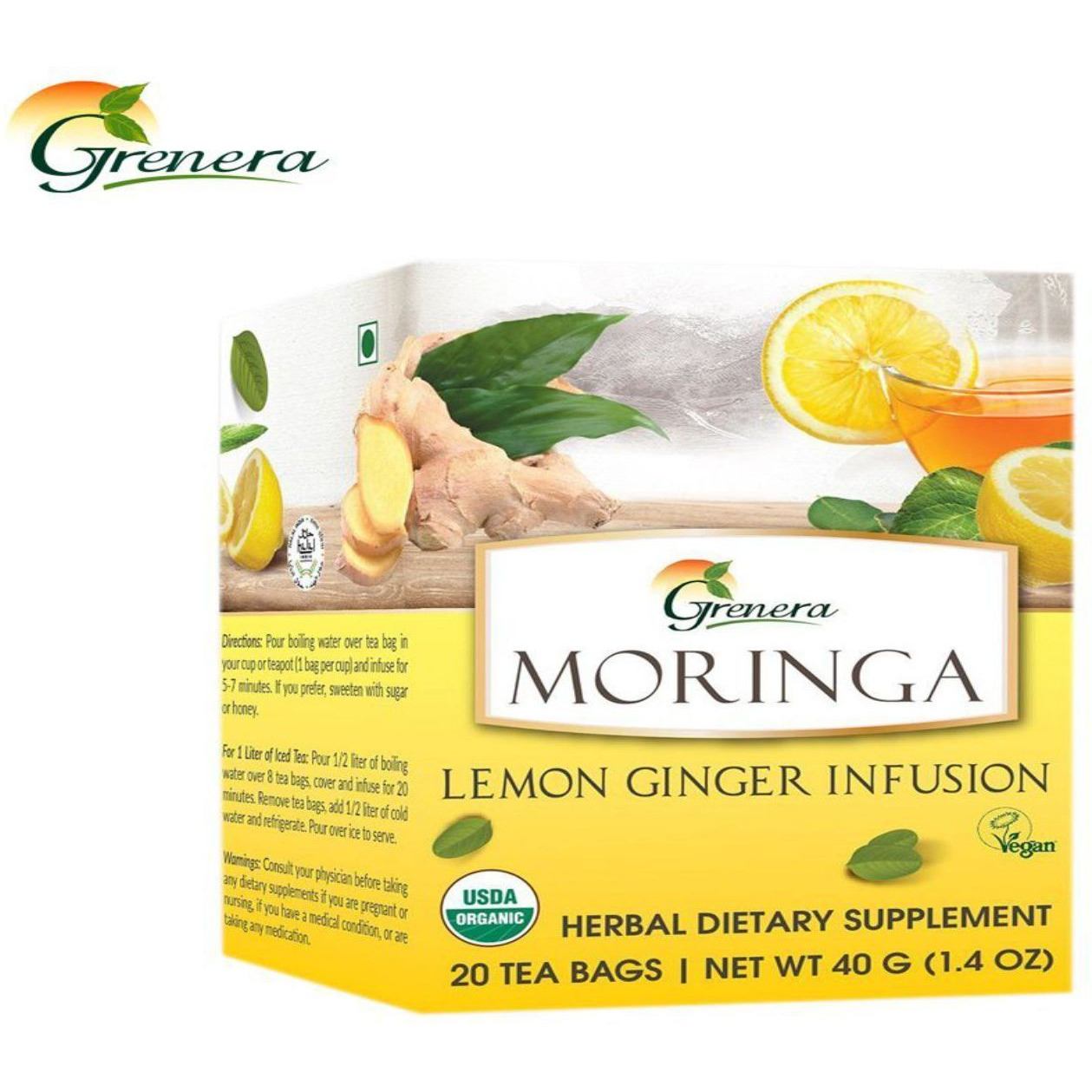 New 100% Grenera Organics Amla Original Tea ??? 20 Tea Bags ??? HealthCare