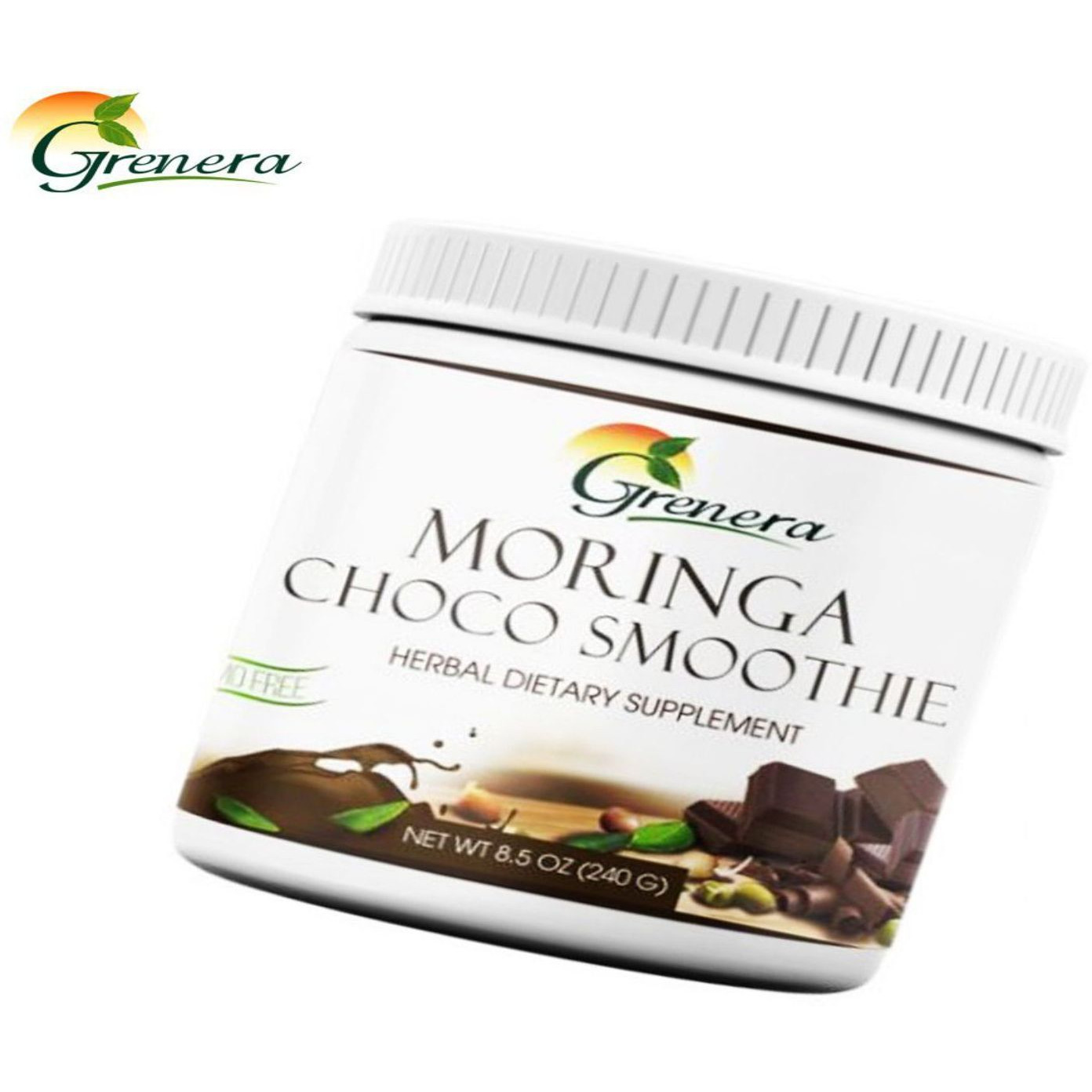 100% Natural Grenera Organics Moringa Choco smoothie Mix-HealthCare (Size:PACK OF 05)