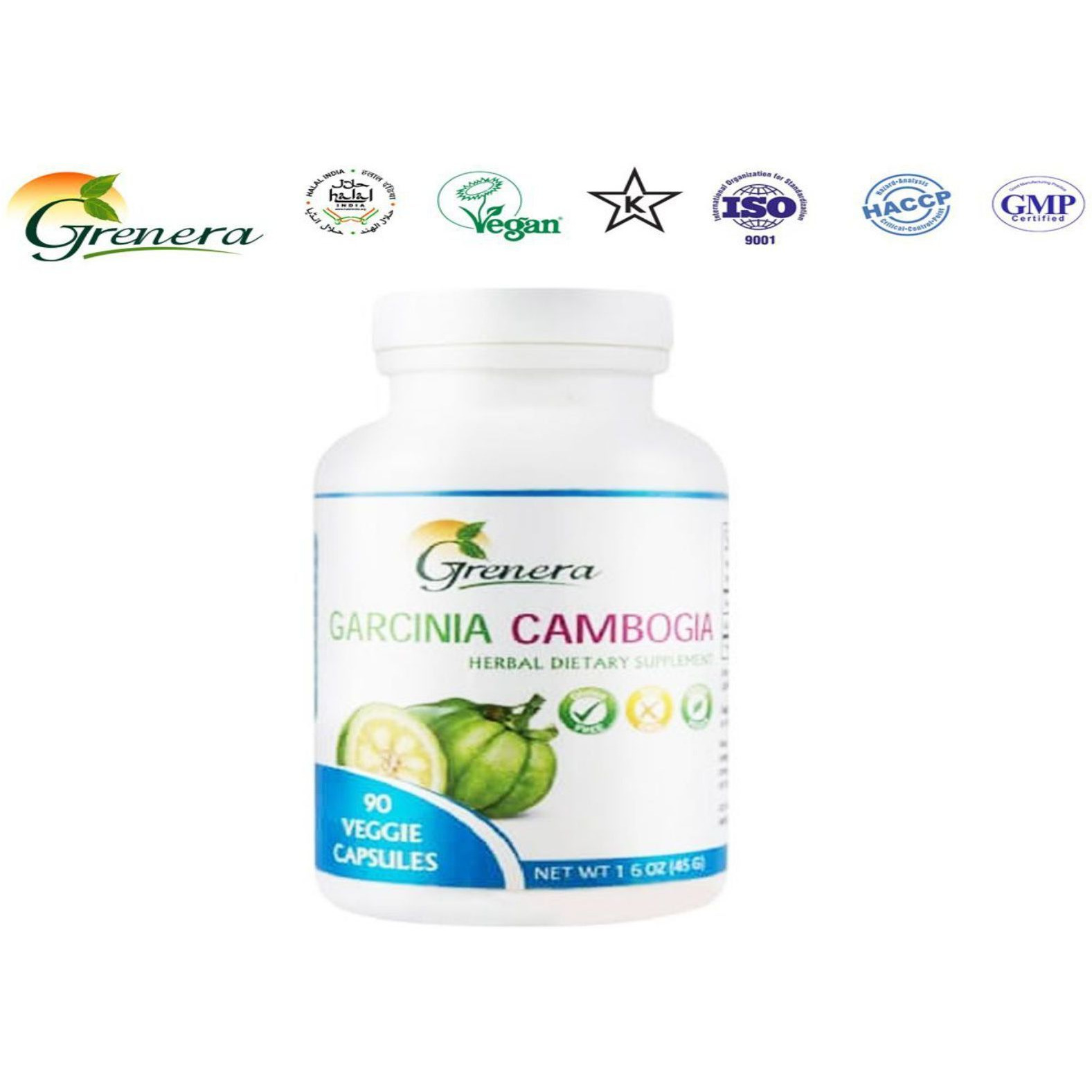 100% Natural Grenera Garcinia Cambogia- Herbals For Health Care- 90 capsule (Size:PACK OF 08)