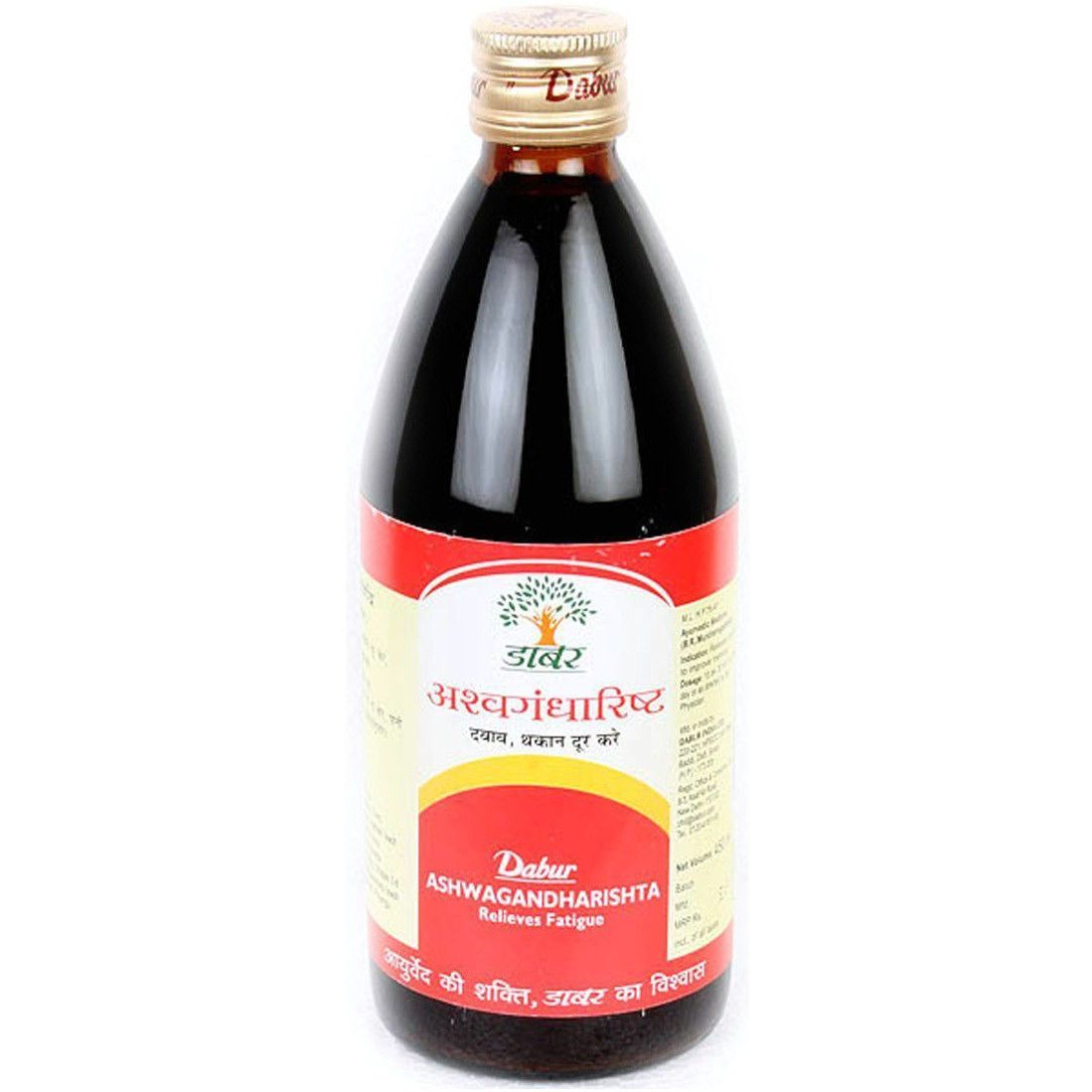 100% Natural & Pure Dabur Ashwagandharishta Syrup Relieves Fatigue - 450ml (Size:PACK OF 01)