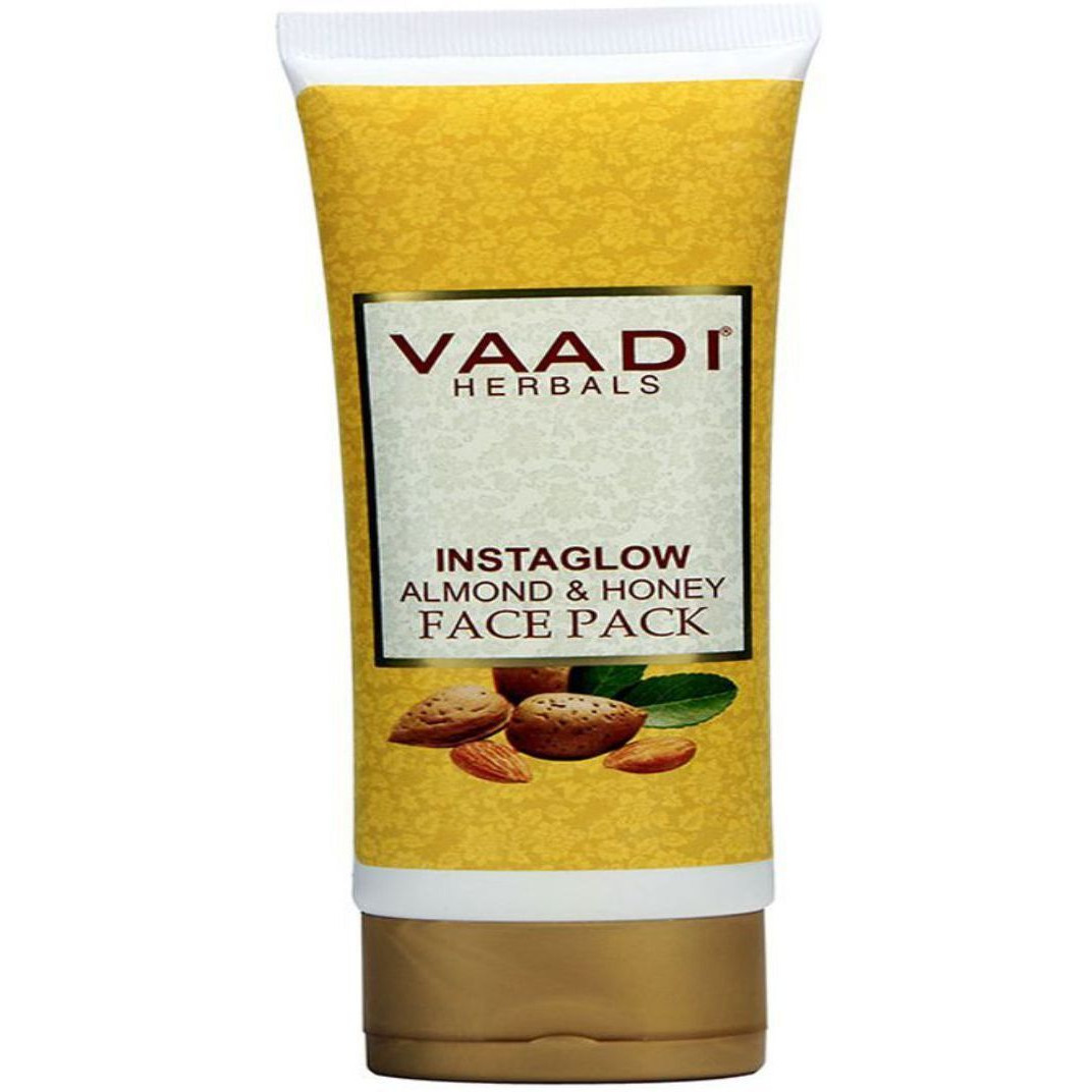 Vaadi Herbals Instaglow Almond & Honey Face Pack (120gms) Unisex (Size:PACK OF 04)