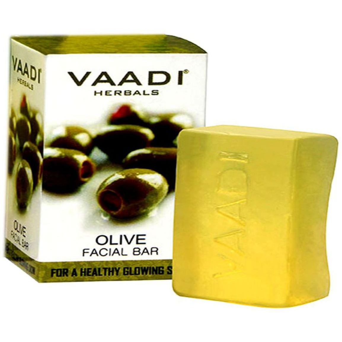 Olive Facial Bar 25GM For Cleanse The Skin Healthy Glow By Vaadi Herbals