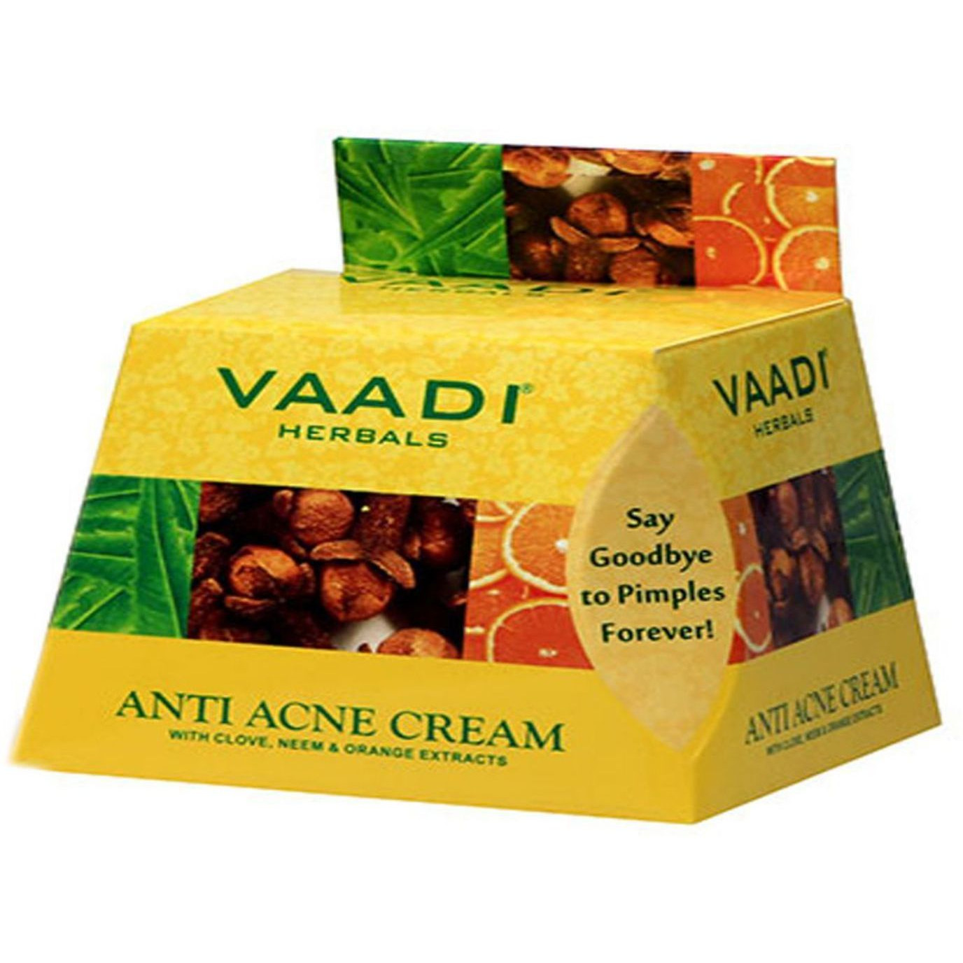 Vaadi Herbals Anti-Acne Cream With Clove, Neem & Orange Extracts 30GM (Size:PACK OF 15)
