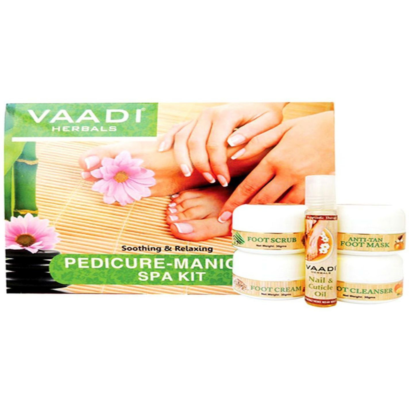 Vaadi Herbals Pedicure Manicure kit with nail & Cuticle Oil-135 Gms (Size:PACK OF 04)