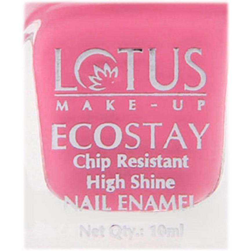 Lotus Herbals Ecostay Nail Enamel (Toluene & DBP Free) - 10 ml - Russian Pink E12 (Size:PACK OF 01)
