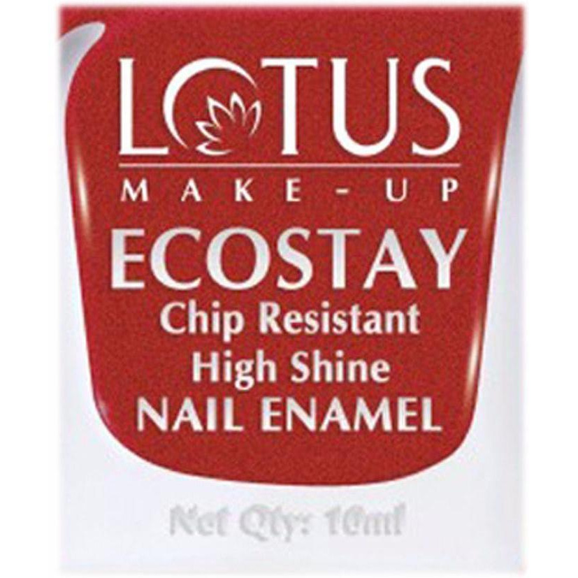 Lotus Herbals Ecostay Nail Enamel (Toluene & DBP Free) - 10 ml - Apple Red (Size:PACK OF 02)