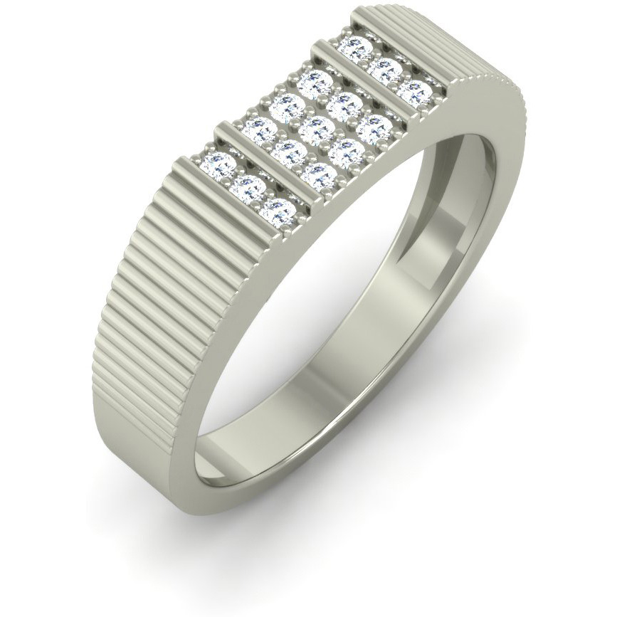 e3d1aec6f3d87 Beautiful Certified 0.36 TCW Real Natural Diamonds 18 Kt White Gold Men Ring
