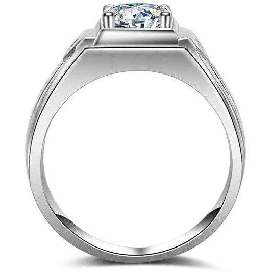 Platinum Plated AAA+ Quality Cubic Zircon CZ Ring for Men