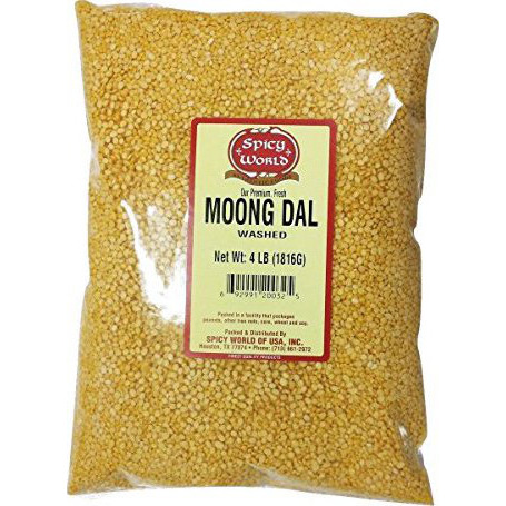 Spicy World Moong Dal (Split Mung Beans Washed) 4 Pounds