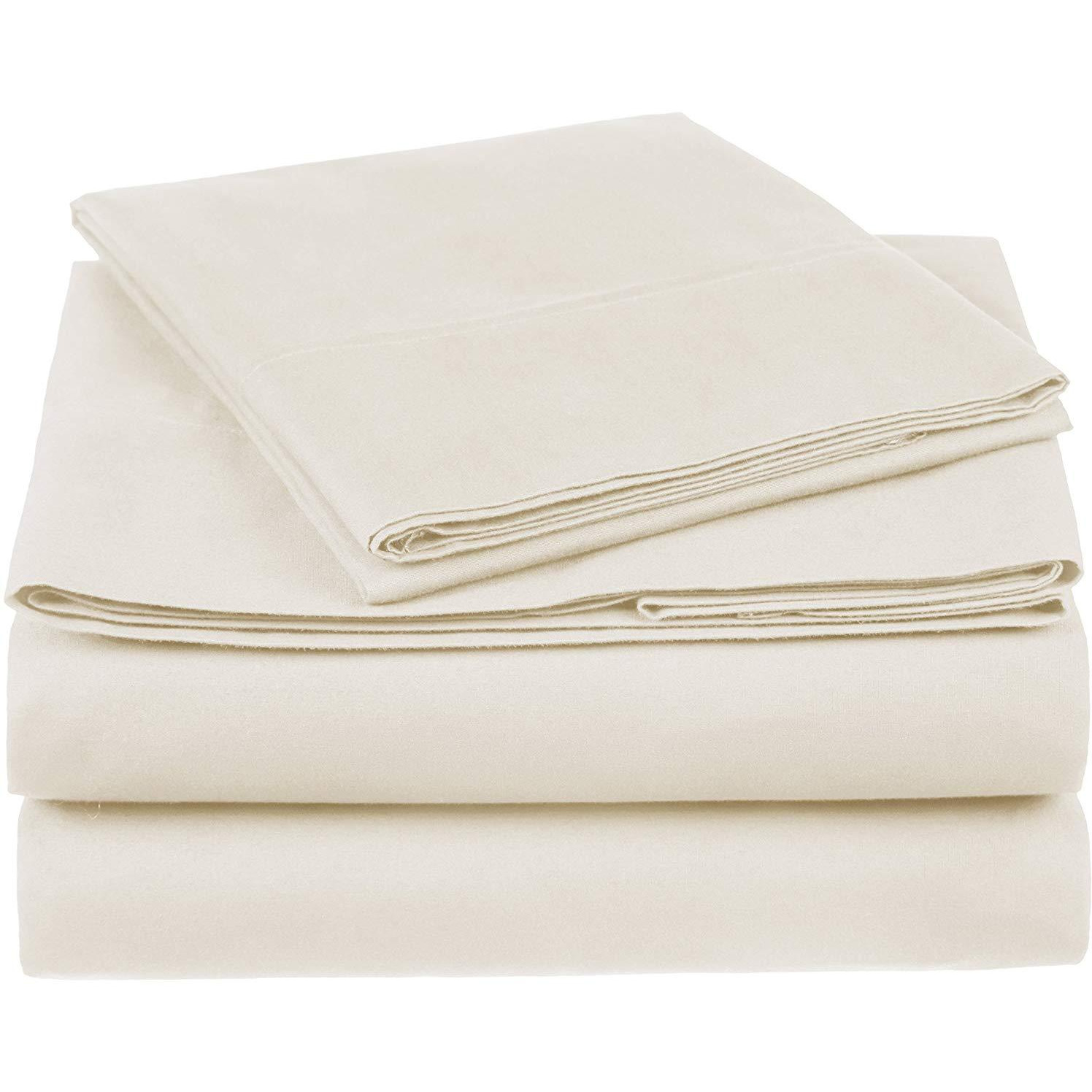 100% Cotton Sheet Set - 400 Thread Count (Piece:6 PIECE, Size:QUEEN, Color:TAUPE)