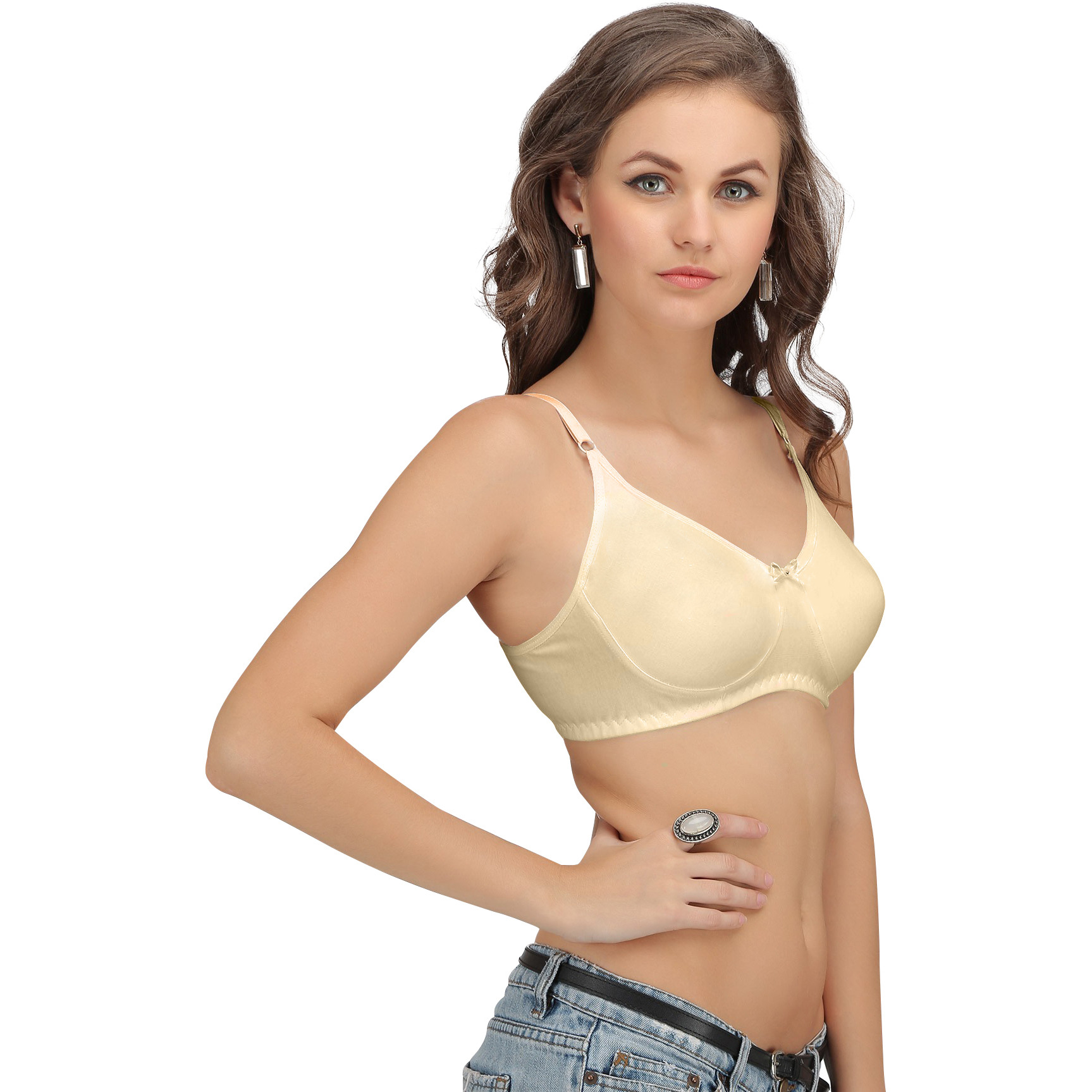 Sona Womens Beige Color Post Surgical Mastectcomy Cancer Bra with Free Pad