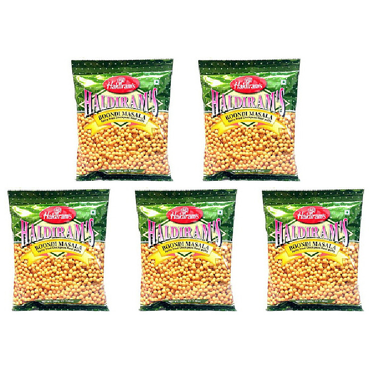 Pack of 5 - Haldiram's Boondi Masala - 400 Gm