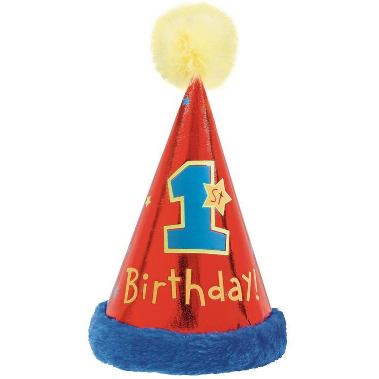 Buy Online 1st Birthday Boy Girl Party Hat With Faux Trim 1 Pc 9 Inch X 525 From USA
