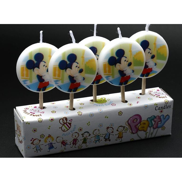 Buy Online Wanna Party Mickey Mouse Birthday Cake Candle Kids 5 Pcs In A Pack From USA