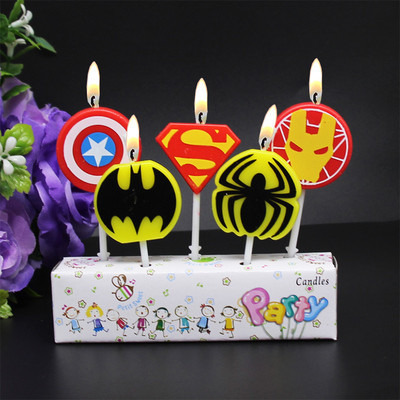 Wanna Party Avengers Kids Birthday Cake Candle 5 pcs in 1 Pack