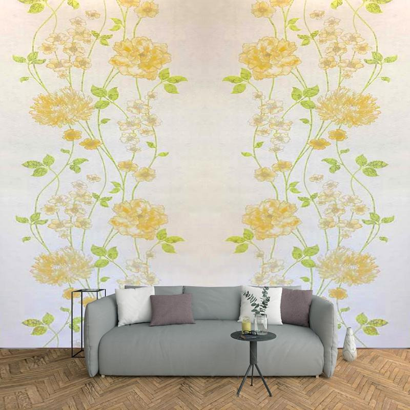 Arihant Design - Floral Print Made Of Embosed Design With 57Sq.Ft High Quality Wallpaper
