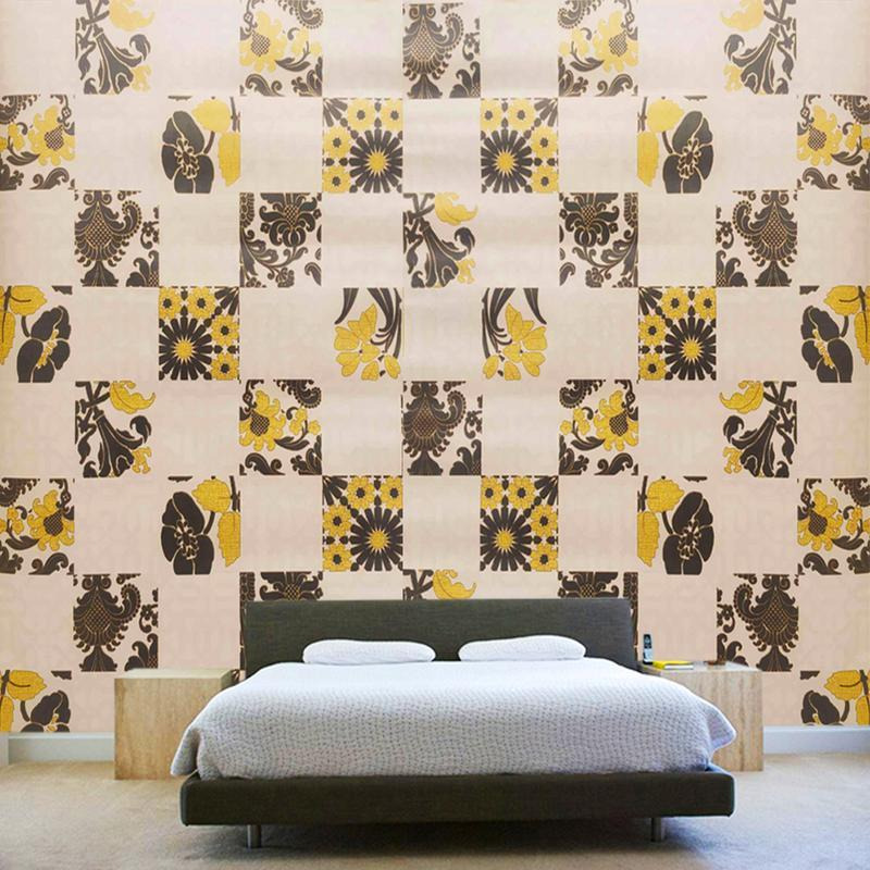 Home Decor High Quality Embossed Texture Washable Cubic Tile Vinyl Wallpaper Art Wall Sticker