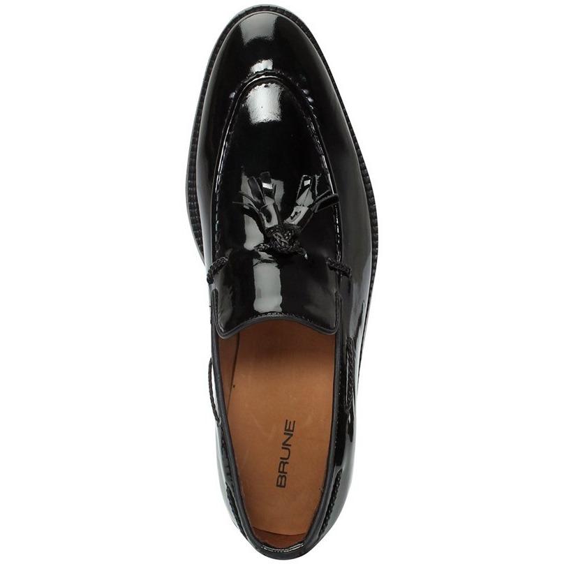 c570515eb06 BRUNE Black Color 100% Genuine Patent Leather Tassel Loafers For Men  (Size UK