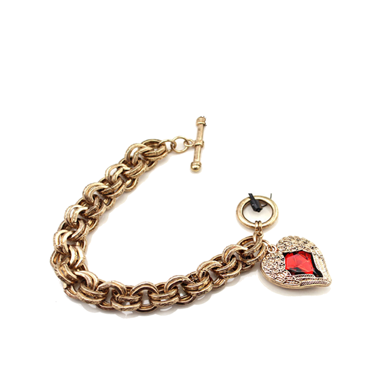The Pari Red Alloy Bracelet For Women