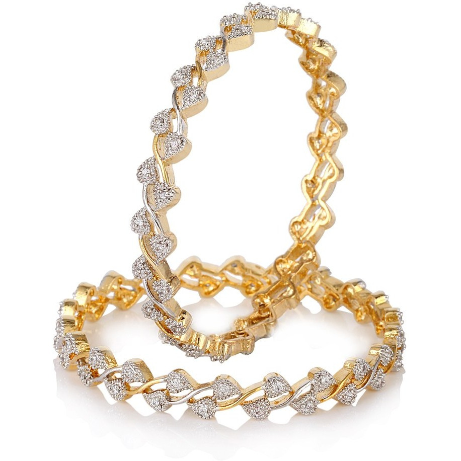Ethnic Jewels Gold Alloy Bangle Set For Women