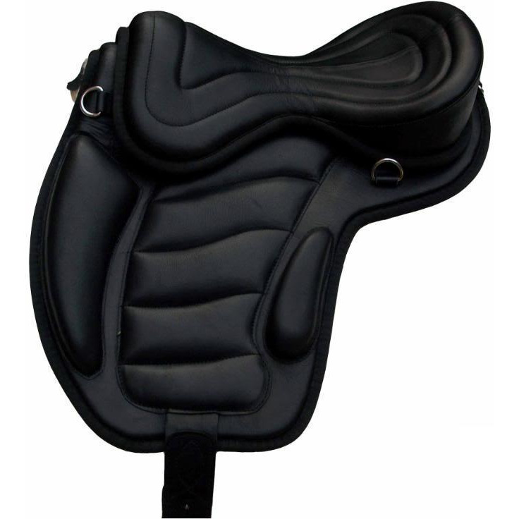 New Handcrafted Wrinkle free PU Leather Treeless English All Purpose Horse Saddles with girth