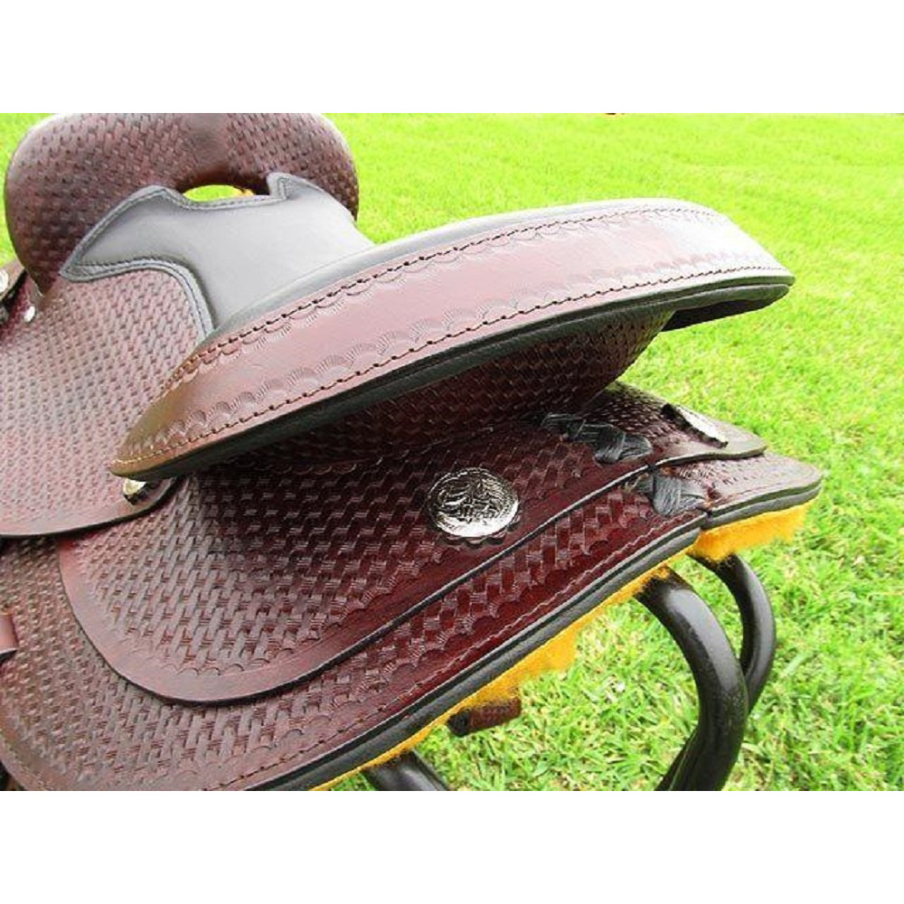 New Handcrafted Pure Leather Western Gaited Barrel Pleasure & Trail Horse  Saddle With Tack Set