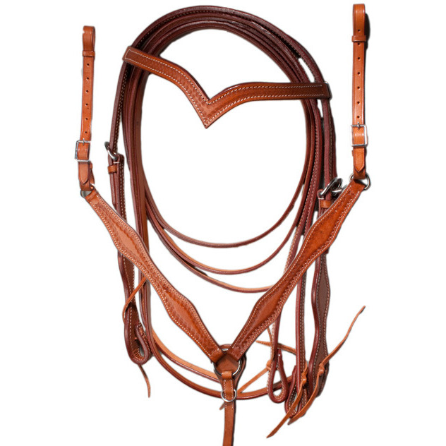 New Double Seat Leather Western Barrel Gaited Pleasure & Trail Horse Saddle With Tack Set