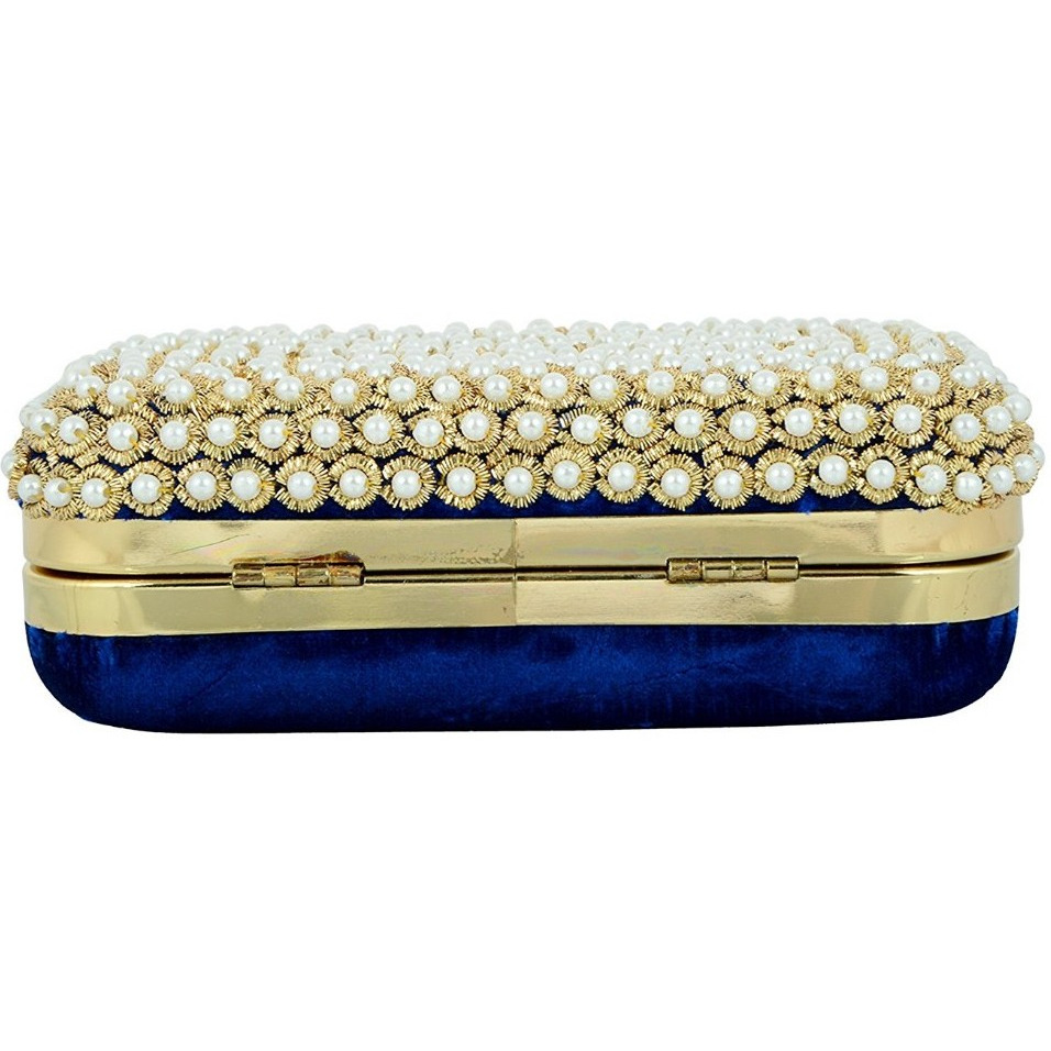 Tooba Handicraft Women's Clutch(blue challa 6x4)