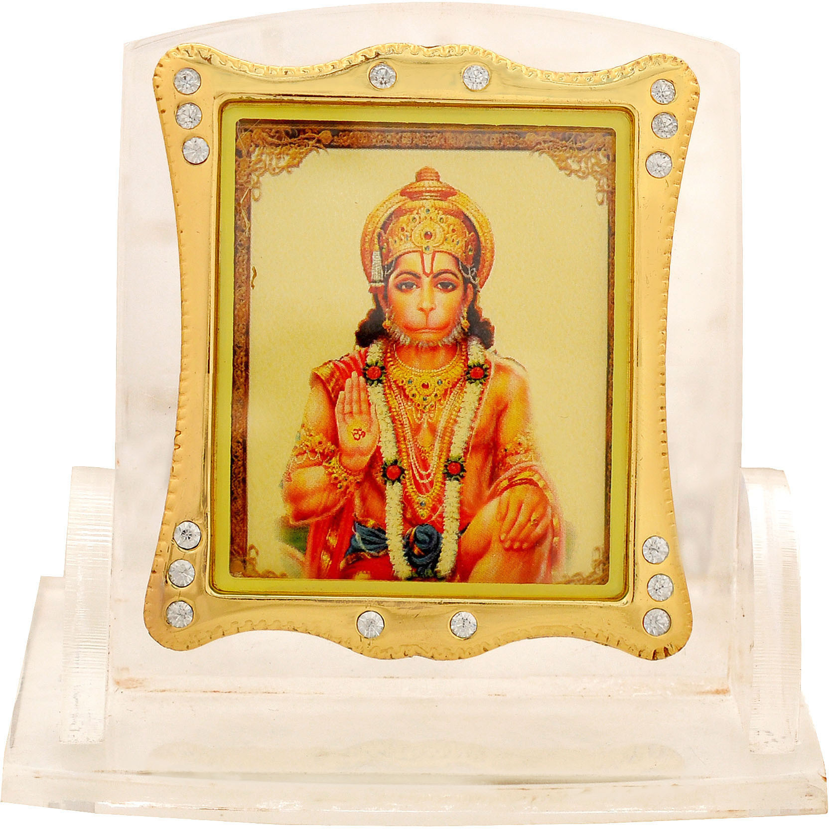 Leganza Hanuman Idol Showpiece for Home Office - Multicolor With White Base