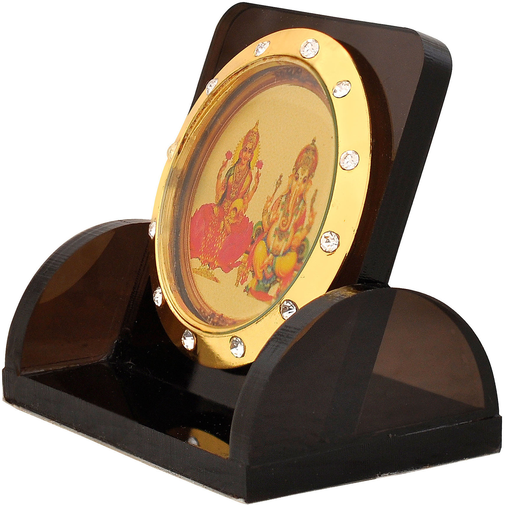 Leganza Ganesh Laxmi Idol Showpiece for Home Office - Multicolor With Black Base