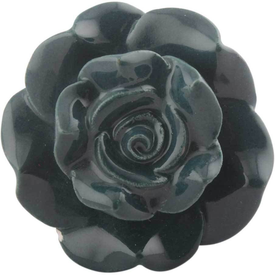 IndianShelf Handmade 20 Piece Ceramic Green Rose Crackle Flower Artistic Drawer Knobs/Cabinet Pulls